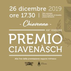 Il premio Ciavenàsch.. la storia